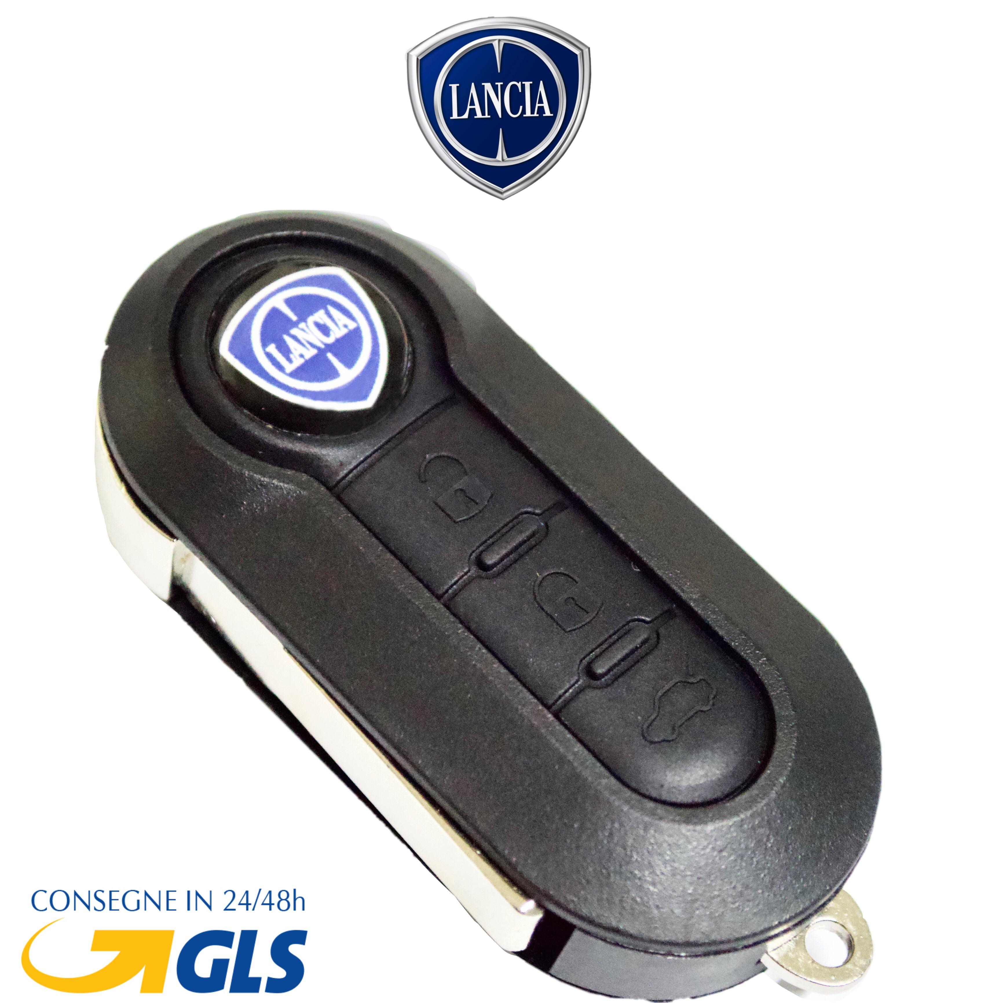 Lancia Peugeot Citroen Guscio Portachiavi Accessori Ricambi Cover Copri Chiave Telecomando Auto 3 Tasti Compatibile Con Fiat
